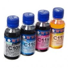 Комплект чернил Canon C10/C11 (4x100мл) WWM