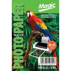 Фотобумага матовая 10x15 230г 100л Magic