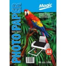 Фотобумага двухсторонняя 10x15 матовая 250г 50л Magic