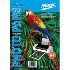 Фотобумага двухсторонняя А4 матовая 140г 100л Magic