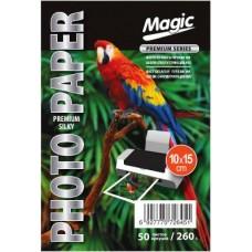 Шелк фотобумага глянцевая 10x15 260г 50л Magic