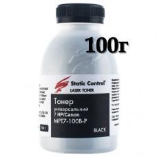 Тонер HP P1005/1505/M1120/M1522 Canon LBP-3010/3100/3250, Static Control (MPT7-100B-P) SCC (100г)